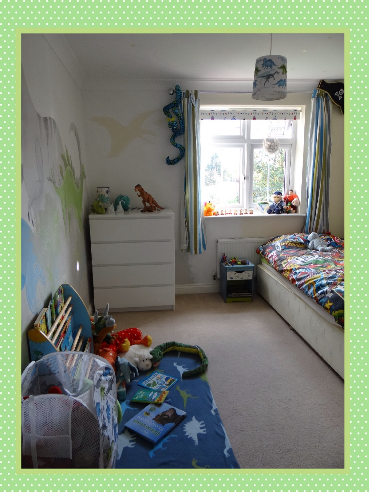 dinosaur bedroom. We didn t need to add any furniture this dinosaur bedroom as everything  already had a place it just wasn being used efficiently image Boys Dinosaur Bedroom Hidden Space